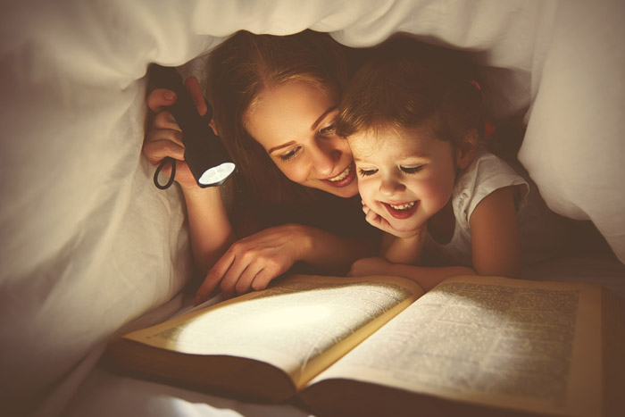 reading bedtime stories