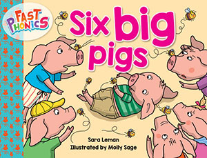 Six big pigs decodable book