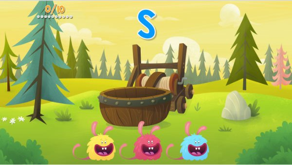 Fast Phonics Flying Furballs activity