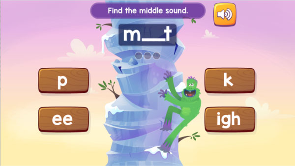 Fast Phonics Mountain Climb activity