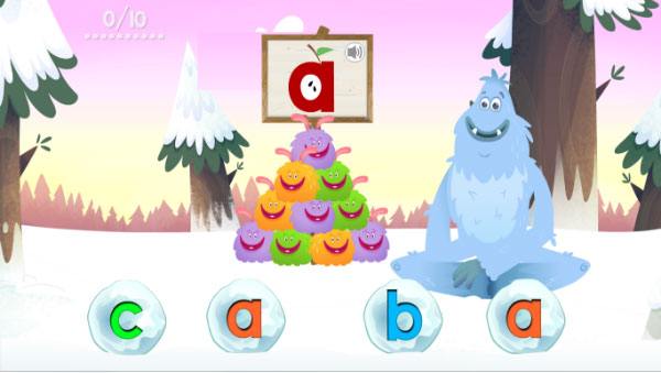 Fast Phonics Snowballs activity