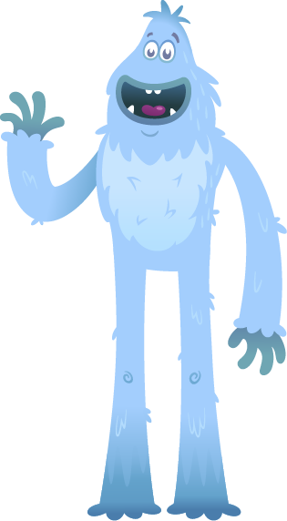 Yeti waving Hello