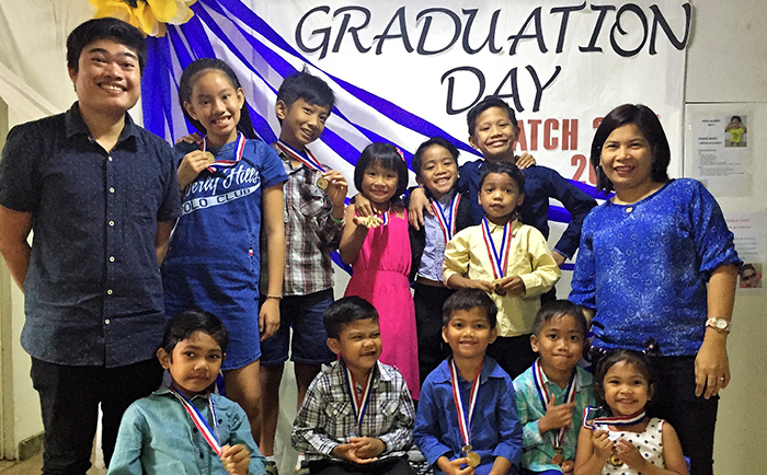 Students from Safe Haven Manila on Graduation Day