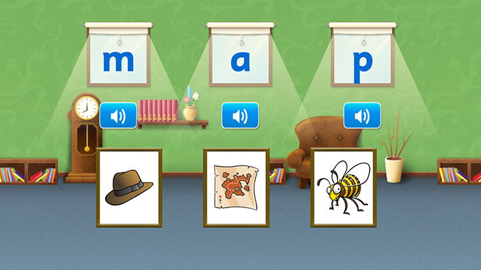 Reading Eggs phonics lesson example