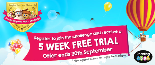 Register to join the challenge and receive a 5 WEEK FREE TRIAL - Offer ends 30th September
